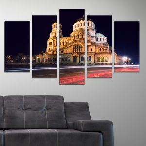 0257 Wall art decoration (set of 5 pieces) Sofia, Bulgaria