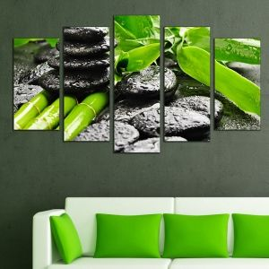 0265 Wall art decoration (set of 5 pieces) Bamboo