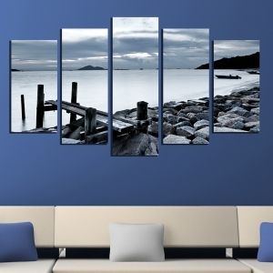 0310 Wall art decoration (set of 5 pieces)  Coast