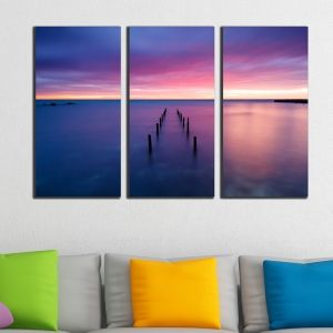 0311 Wall art decoration (set of 3 pieces) Sea