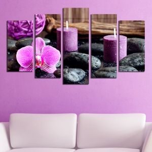 0322 Wall art decoration (set of 5 pieces) Spa composition