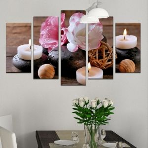 0328 Wall art decoration (set of 5 pieces) Aromatherapy