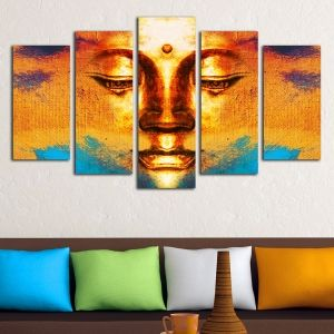 0341 Wall art decoration (set of 5 pieces) Buddha