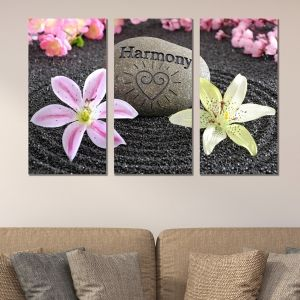 0349 Wall art decoration (set of 3 pieces)  Harmony