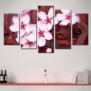 0357 Wall art decoration (set of 5 pieces) Blossom