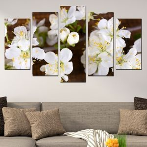 0358 Wall art decoration (set of 5 pieces) Blossom