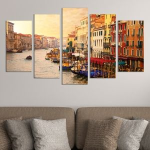 0363 Wall art decoration (set of 5 pieces) Venice