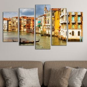 0364 Wall art decoration (set of 5 pieces) Venice