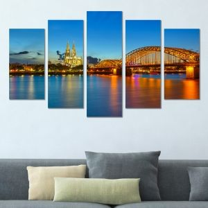0370 Wall art decoration (set of 5 pieces) Cologne