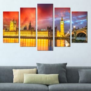 0372 Wall art decoration (set of 5 pieces) London