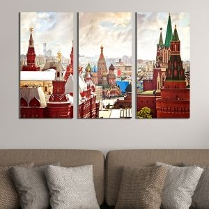 0376 Wall art decoration (set of 3 pieces)  Moscow
