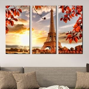 0397 Wall art decoration (set of 3 pieces) Paris