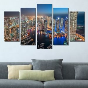 0402 Wall art decoration (set of 5 pieces) Dubai