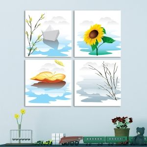0053 Wall art decoration for kids (set of 4 pieces) Seasons