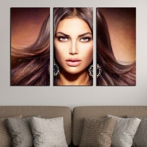 0583 Wall art decoration (set of 3 pieces) Glamor
