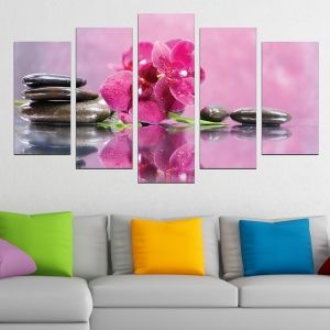 0601 Wall art decoration (set of 5 pieces) Zen composition