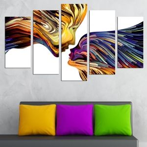 0603 Abstract wall art decoration (set of 5 pieces) Abstract love