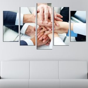 0616 Wall art decoration (set of 5 pieces) Team work