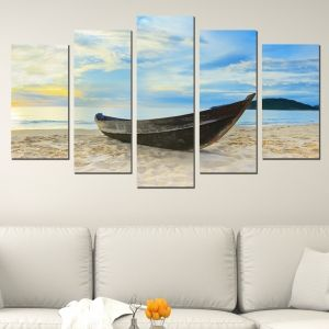 0039 Wall art decoration (set of 5 pieces) Boat