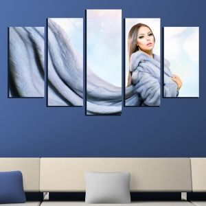 0565 Wall art decoration (set of 5 pieces) Ice queen