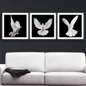 0106 Wall art decoration (set of 3 pieces) Flight