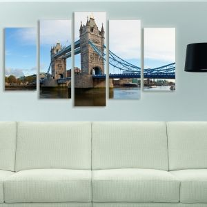 0112 Wall art decoration (set of 5 pieces) Tower Bridge London