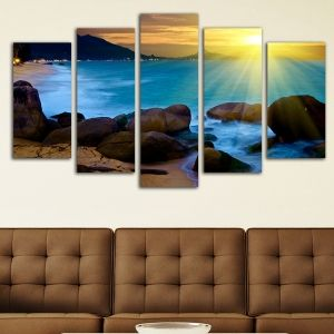 0122 Wall art decoration (set of 5 pieces) Horizont