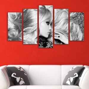 0149  Wall art decoration (set of 5 pieces) Pretty woman