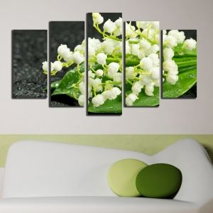 0161 Wall art decoration (set of 5 pieces) May-lily