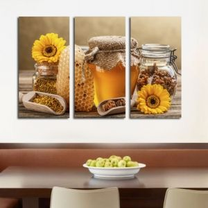 0184 Wall art decoration (set of 3 pieces) Bee products