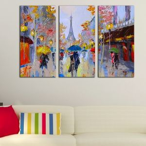 0192 Wall art decoration (set of 3 pieces) Paris