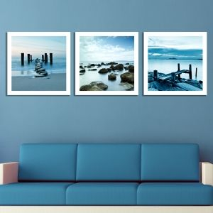 0208 Wall art decoration (set of 3 pieces) Coasts
