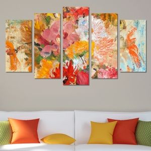 0213_1 Wall art decoration (set of 5 pieces) Color feeling