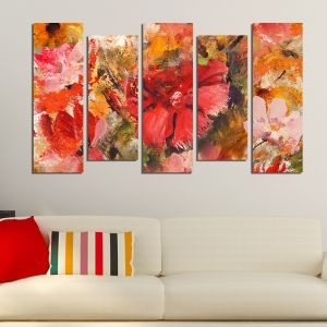 0213_1 Wall art decoration (set of 5 pieces) Color mood