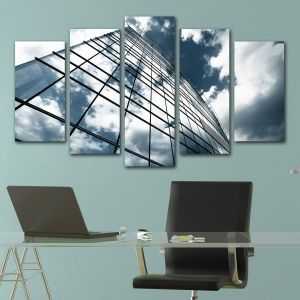 0218 Wall art decoration (set of 5 pieces) Office building