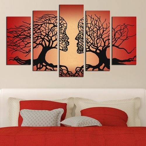Modern canvas arts for bedroom