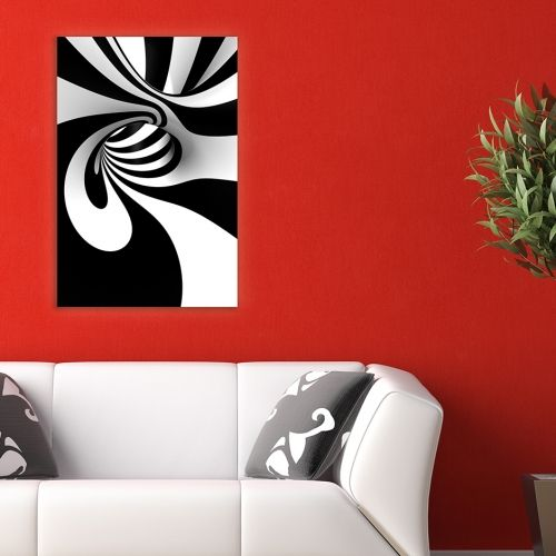 Black and white wall art decoration