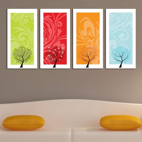 Wall decoration with seasons