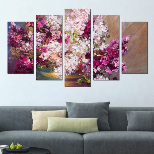 Canvas wall art with lilac