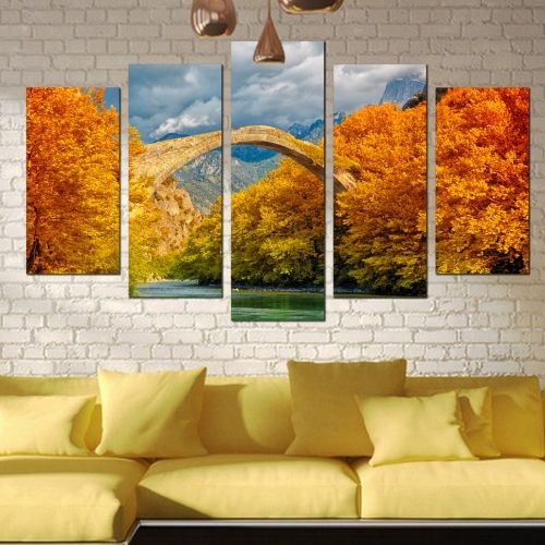 Wall decoration Colorfull landscape