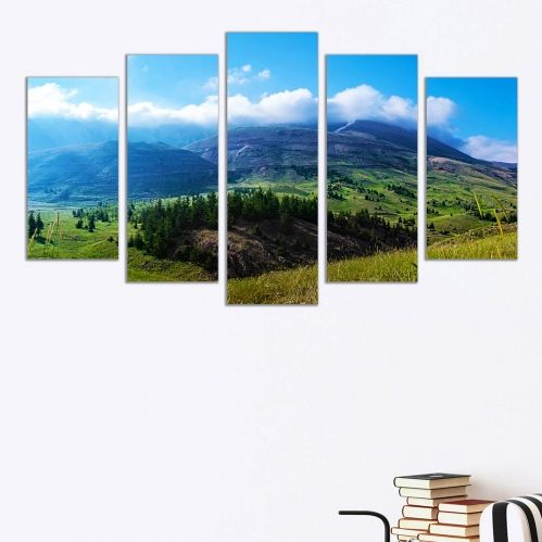 Wall decoration beautiful landscape with montain
