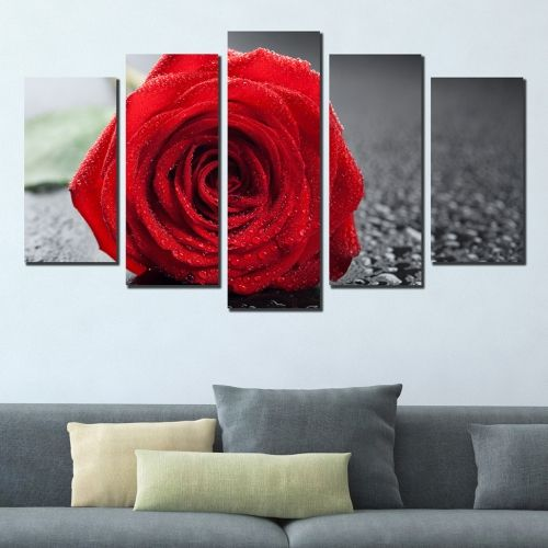 wall decoration red rose