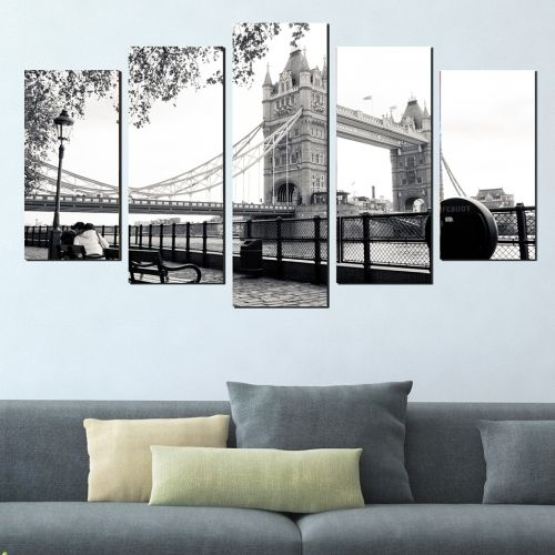 Canvas wall art London black and white