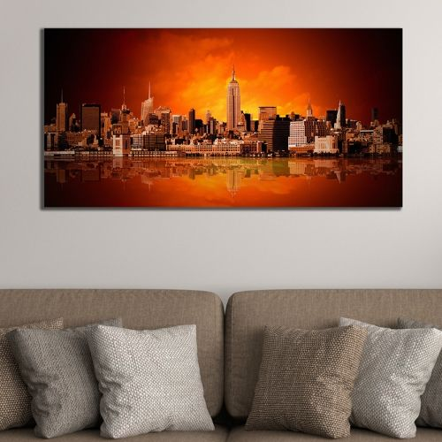 Cityscape canvas wall art New York panorama