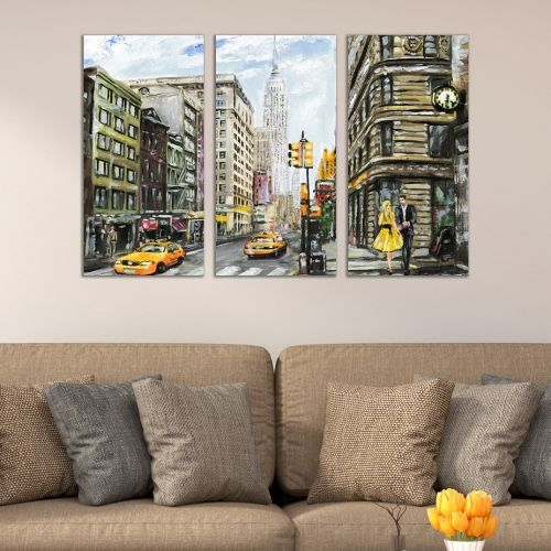 canvas wall art decoration New York painting
