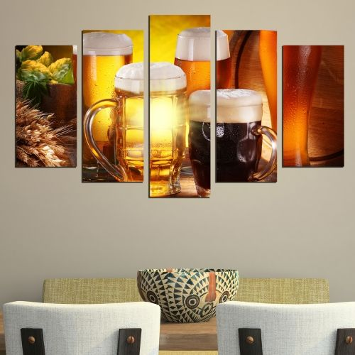 Canvas art set for bar beer