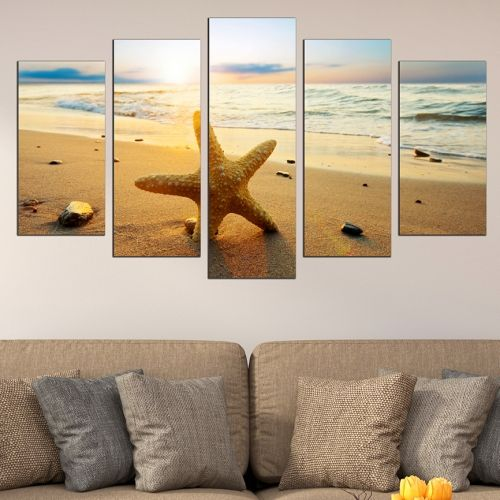 5 pieces home decoration for wall starfish