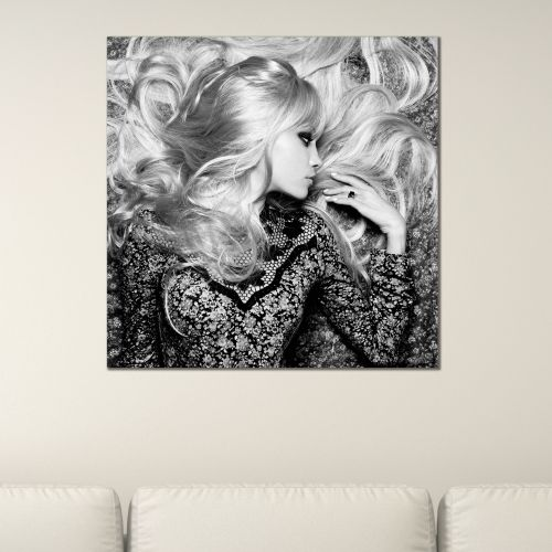 Beautiful canvas wall art Pretty woman