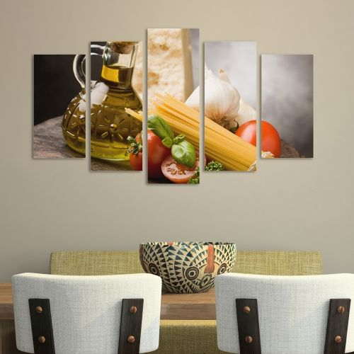 Wall art decoration with pasta