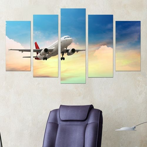 Wall art decoration set for office
